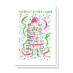 Meowy Everything Holiday Card