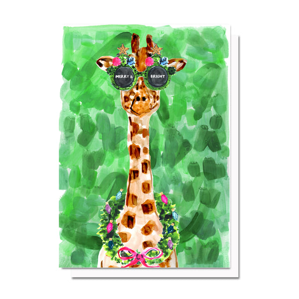Merry & Bright Giraffe Card