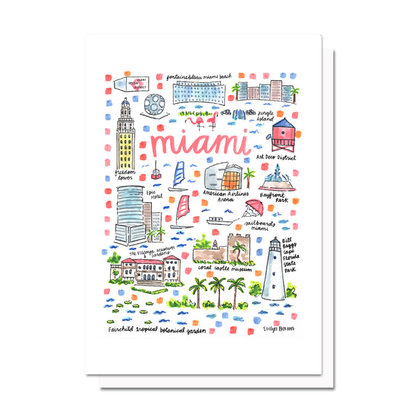 Miami, FL Map Card