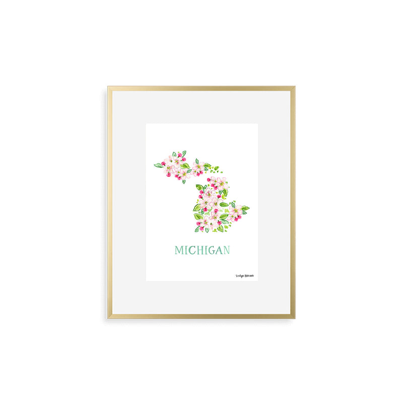 Michigan Apple Blossom Flower Print