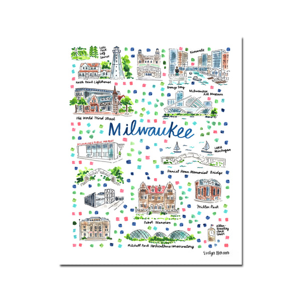 """Milwaukee, WI"" Fine Art Print"