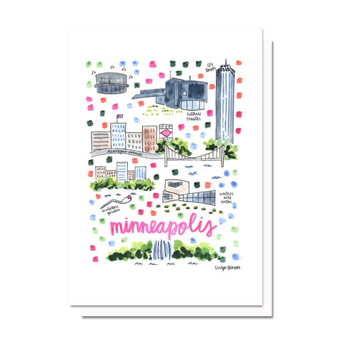 Minneapolis, MN Map Card