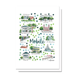 Mobile, AL Map Card