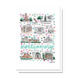 Montgomery, AL Map Card