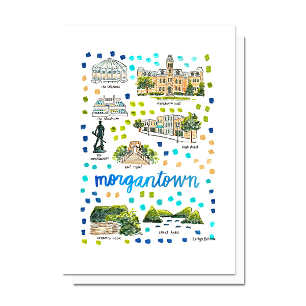 Morgantown, WV Map Card