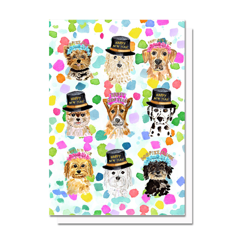 New Year Pups Card