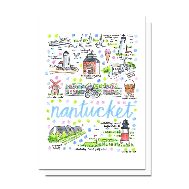 Nantucket, MA Map Card