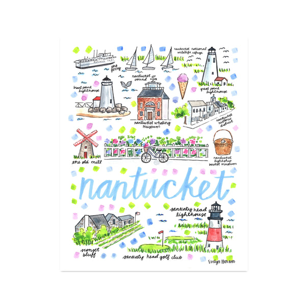 """Nantucket, MA"" Fine Art Print"