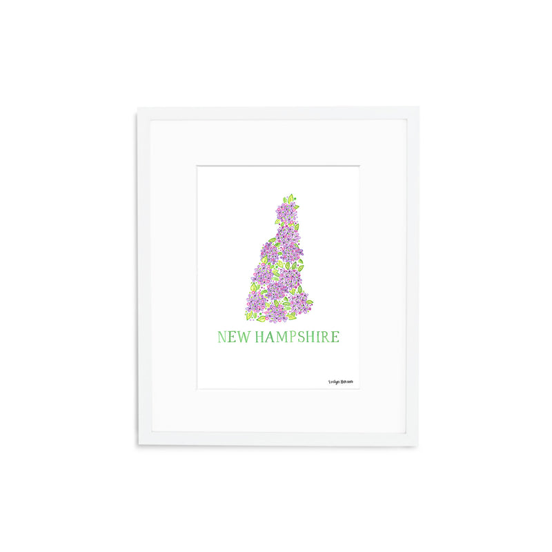 New Hampshire Purple Lilac Flower Print
