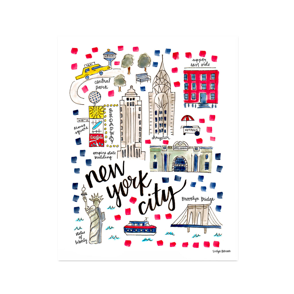 """New York City, NY"" Fine Art Print"