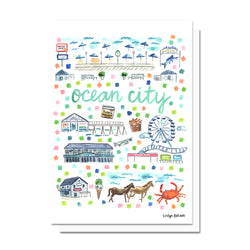 Ocean City, MD Map Card