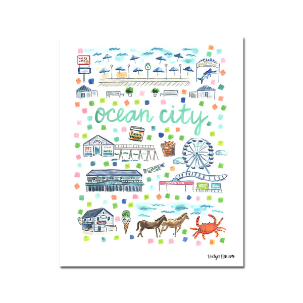 """Ocean, City, MD"" Fine Art Print"