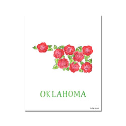 Oklahoma Rose Flower Print