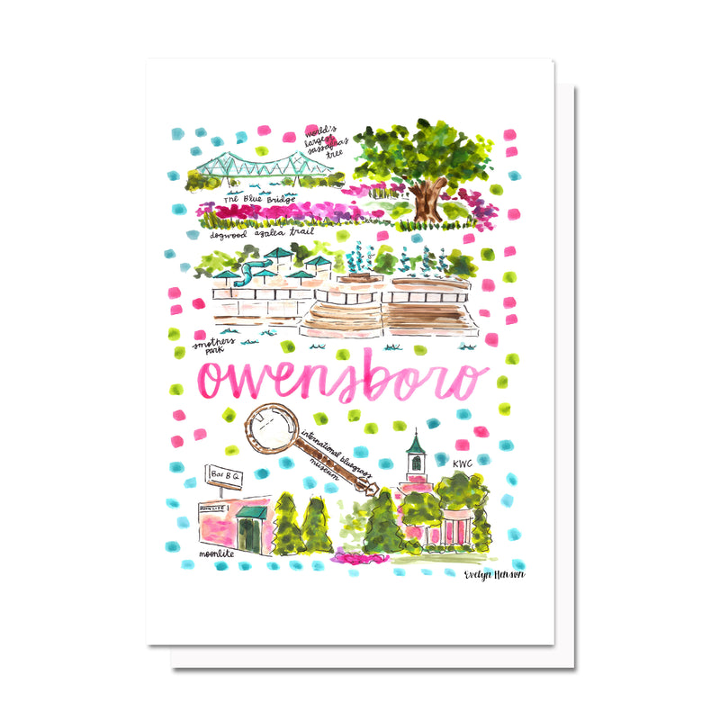 Owensboro, KY Map Card