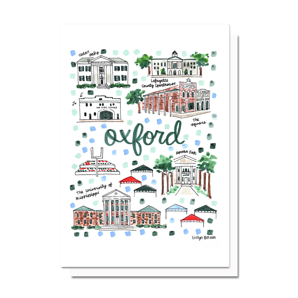 Oxford, MS Map Card