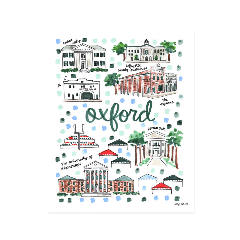 """Oxford, MS"" Fine Art Print"