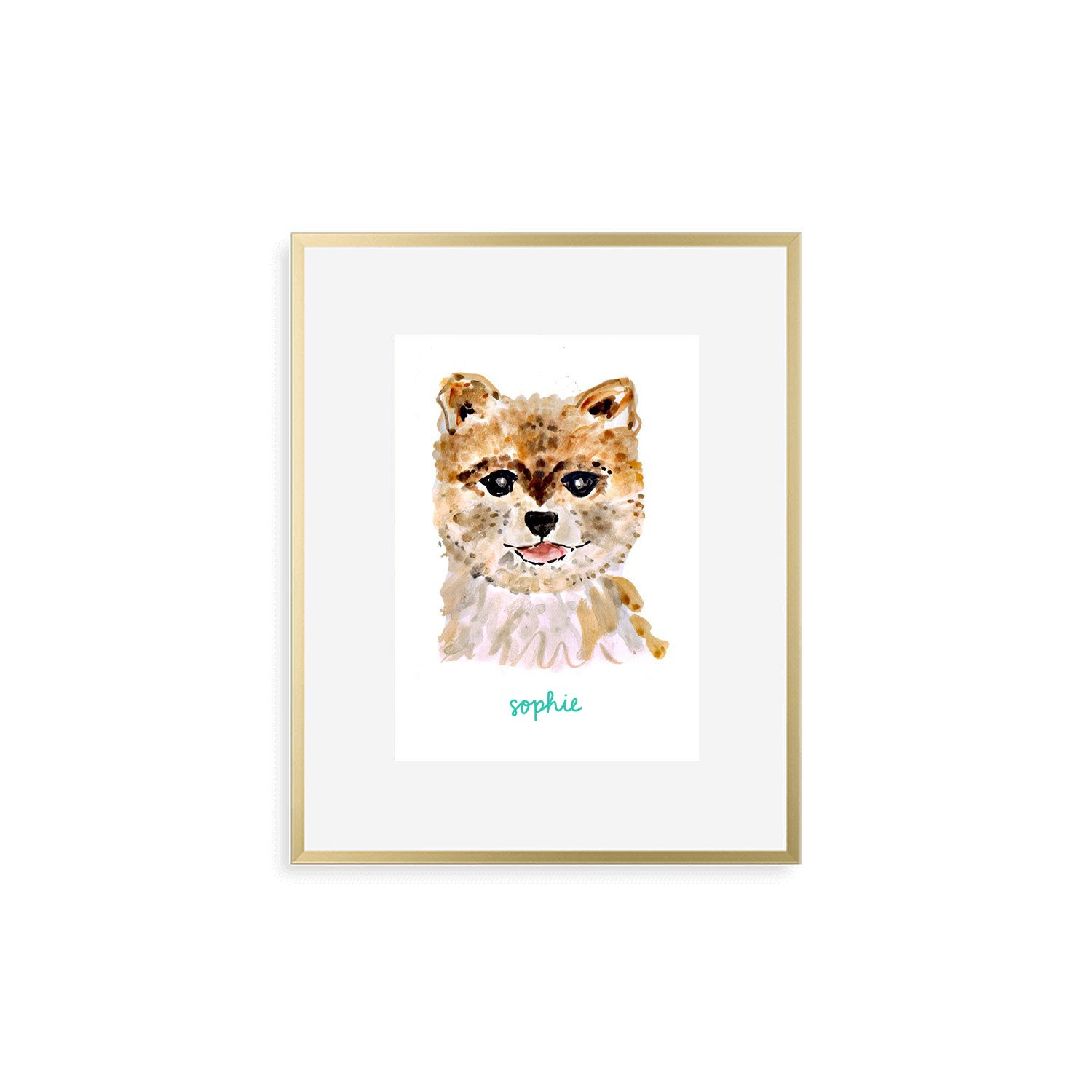 ad0069d72fe4 Personalized Dog Print. $89.99. Add a Frame