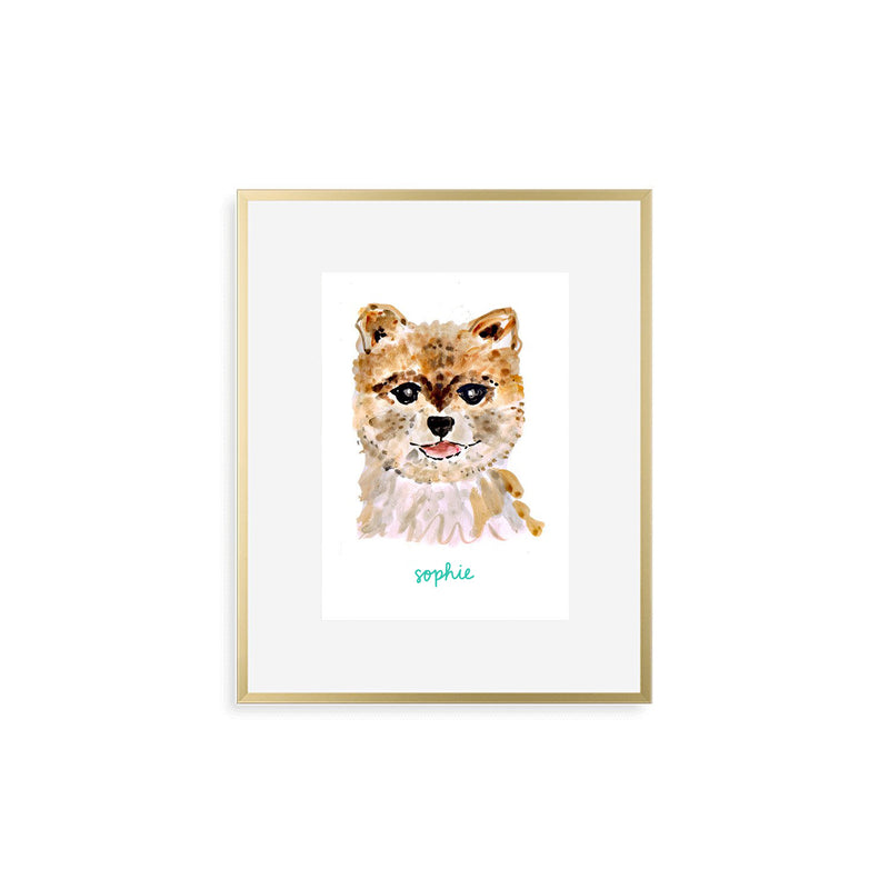 Personalized Dog Print