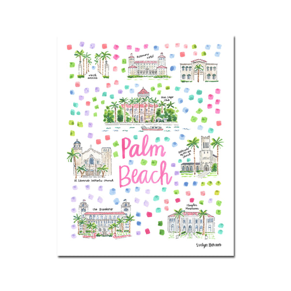 """Palm Beach, FL"" Fine Art Print"