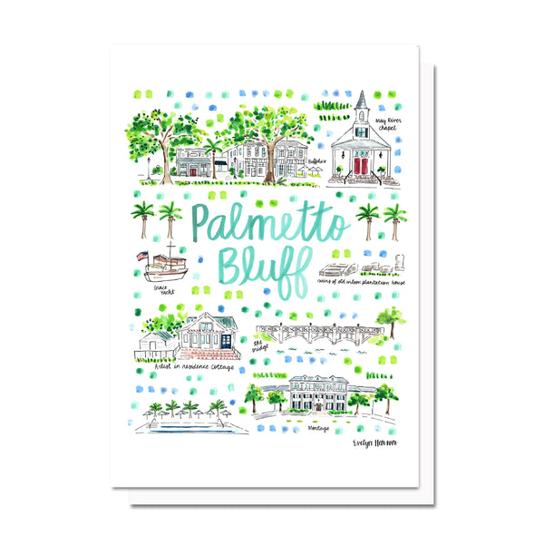 Palmetto Bluff, SC Map Card