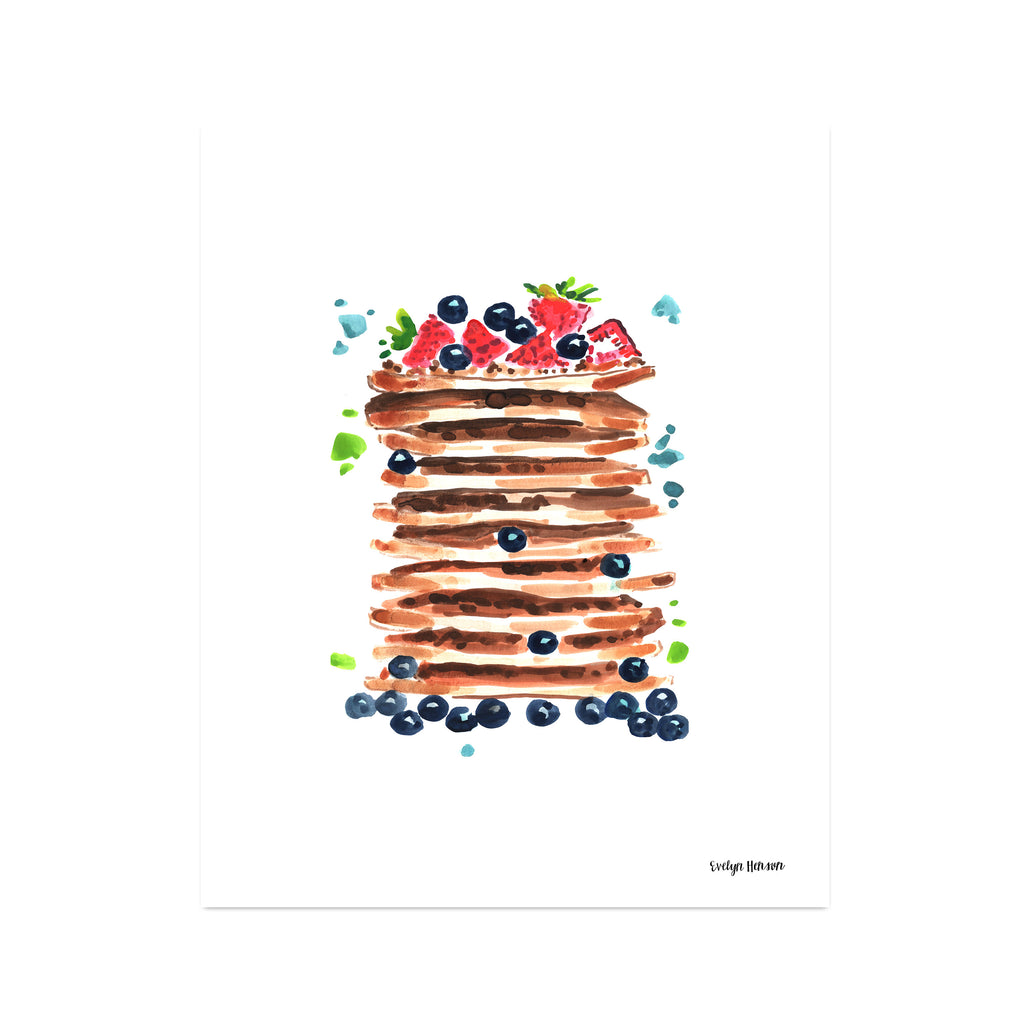 "The ""Pancakes for Breakfast"" Fine Art Print"
