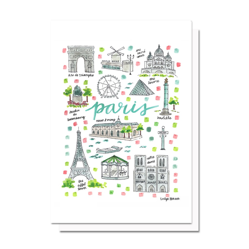 Paris Map Card