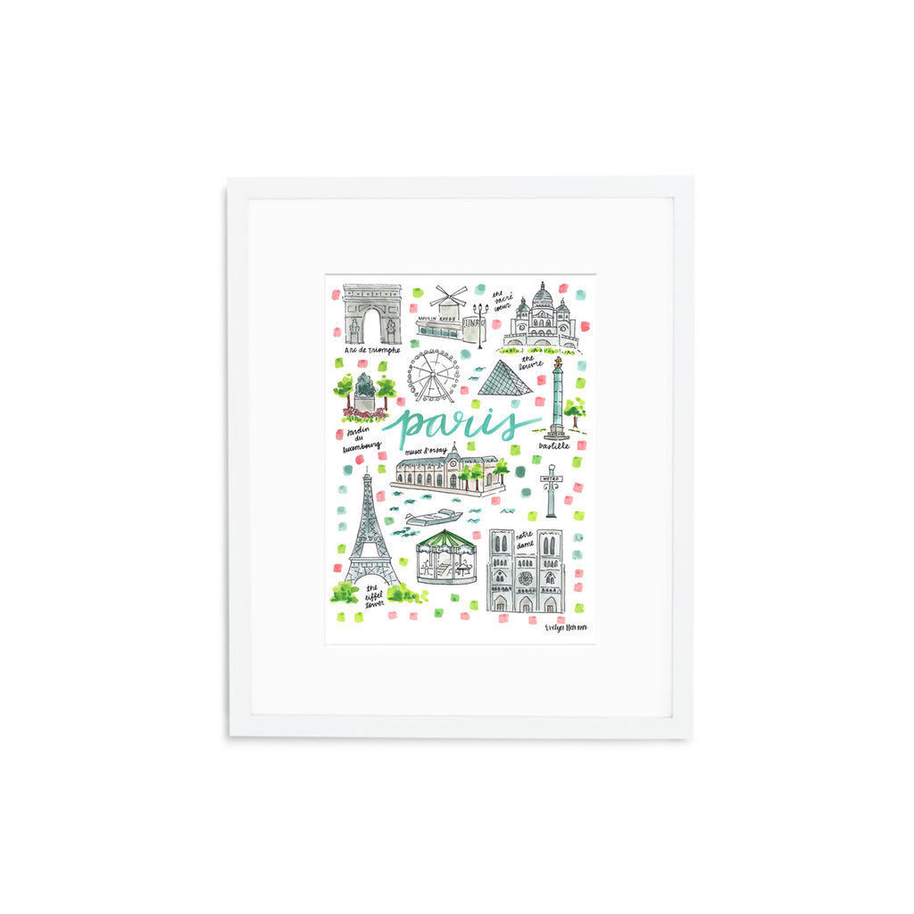 """Paris, France"" Fine Art Print"