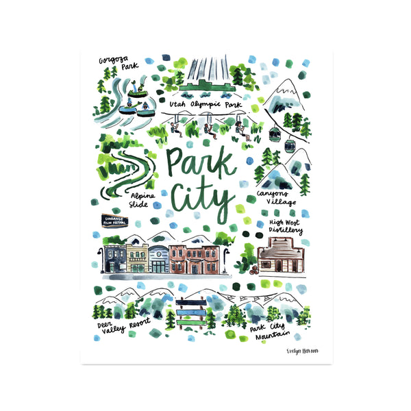 """Park City, UT"" Fine Art Print"