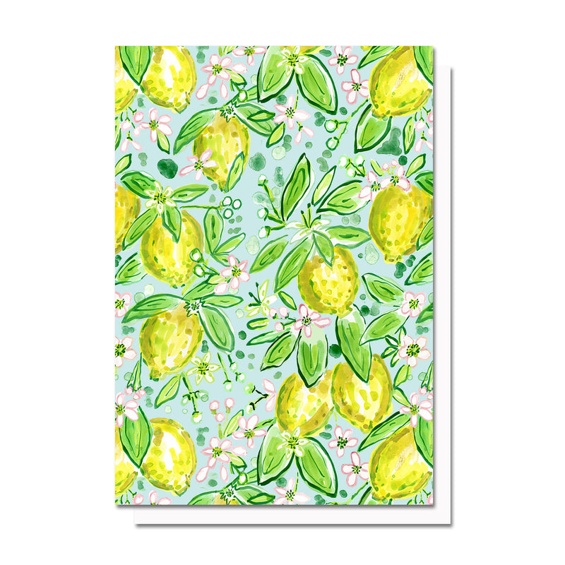Lemonade, Patterned Notecard