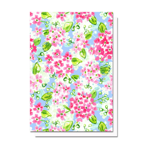 Mayflowers, Patterned Notecard