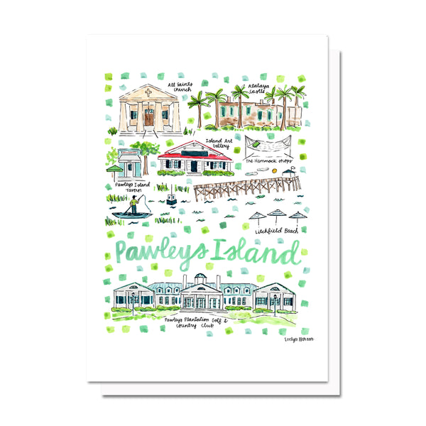 Pawleys Island, SC Map Card