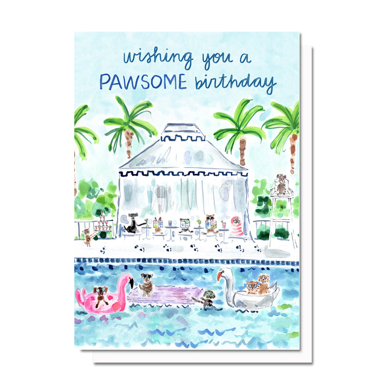 Pawsome Birthday Card