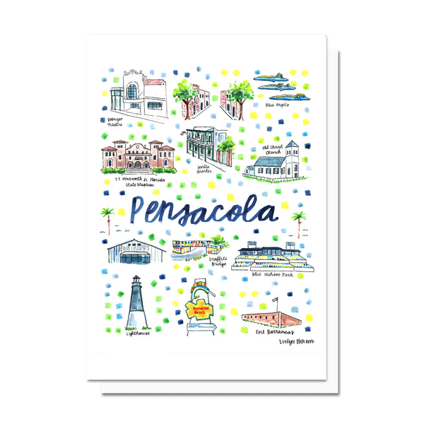 Pensacola, FL Map Card