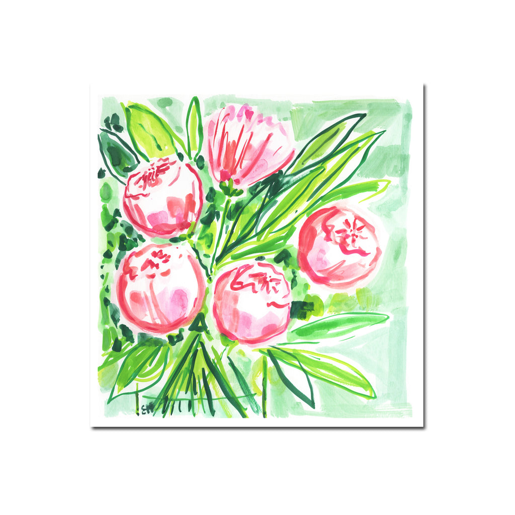 Peonies at Brunch, Flower Print