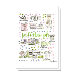 Pittsburgh, PA Map Card