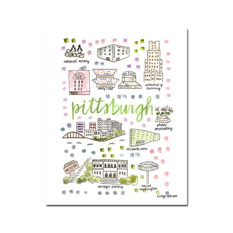 """Pittsburgh, PA"" Fine Art Print"
