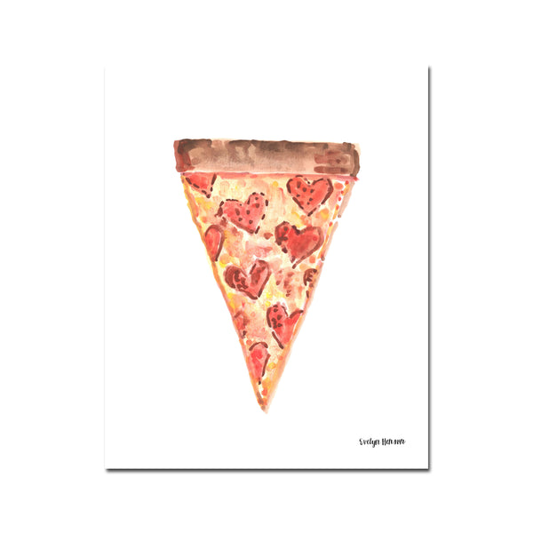 "The ""Pizza Delivery (Extra Love)"" Fine Art Print"