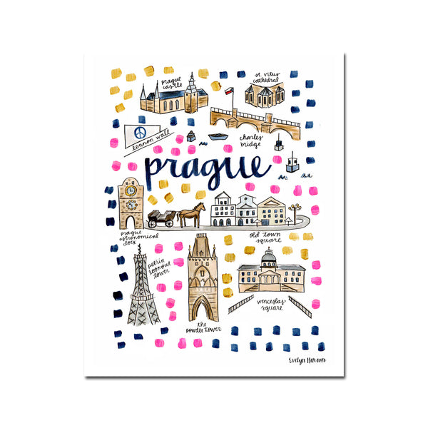 """Prague, Czech Republic"" Fine Art Print"
