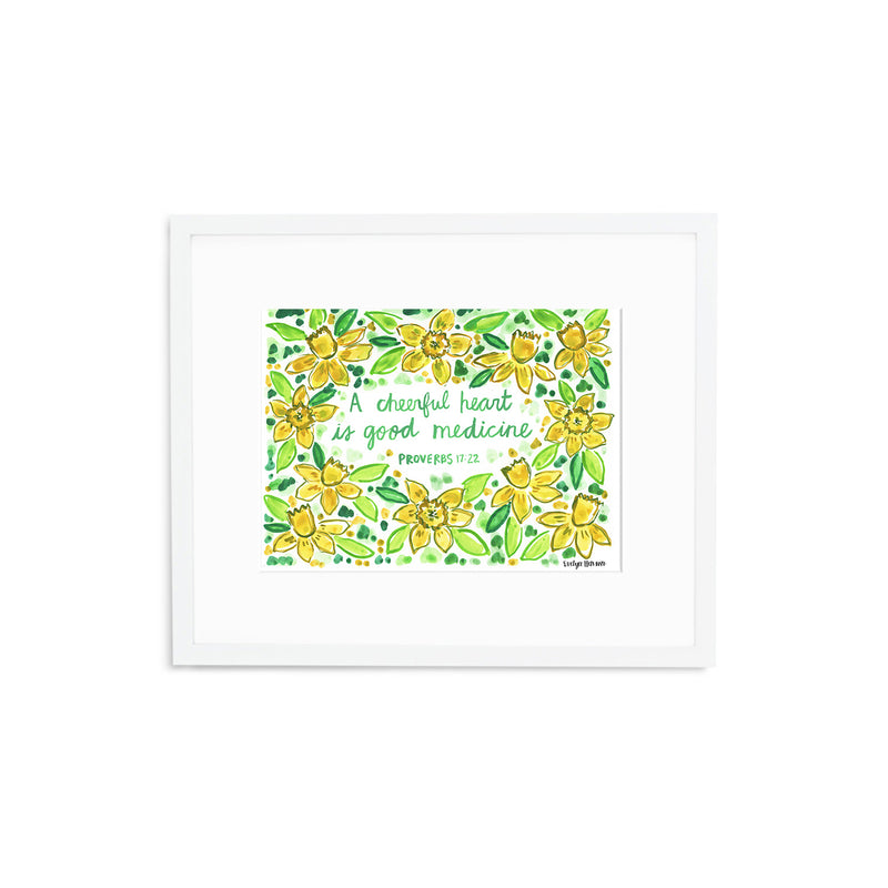 "The ""Proverbs 17:22"" Fine Art Print"