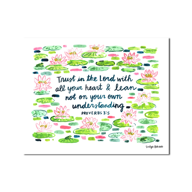 "The ""Proverbs 3:5"" Fine Art Print"