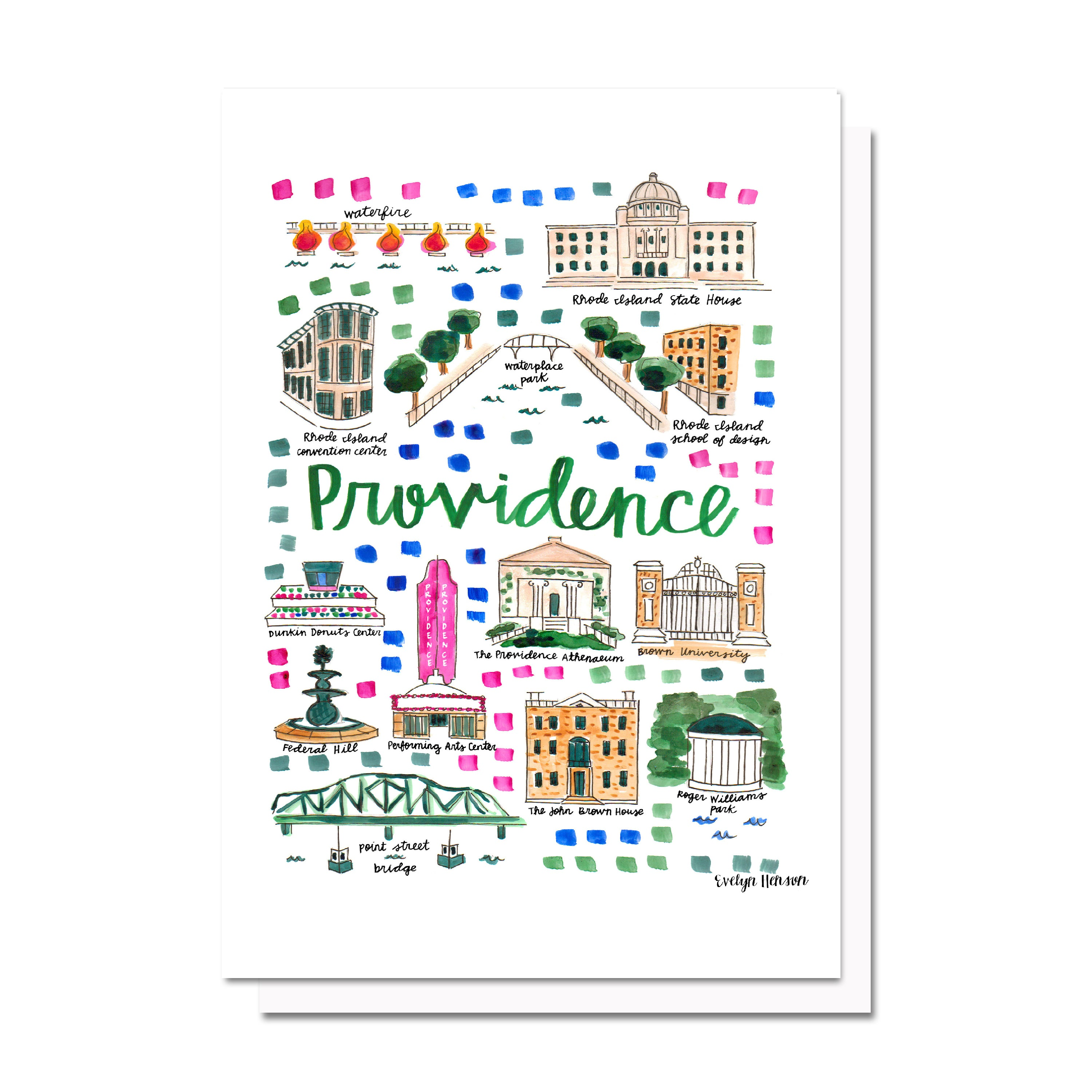 Providence, RI Map Card – Evelyn Henson