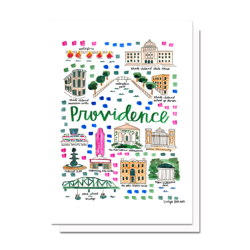 Providence, RI Map Card