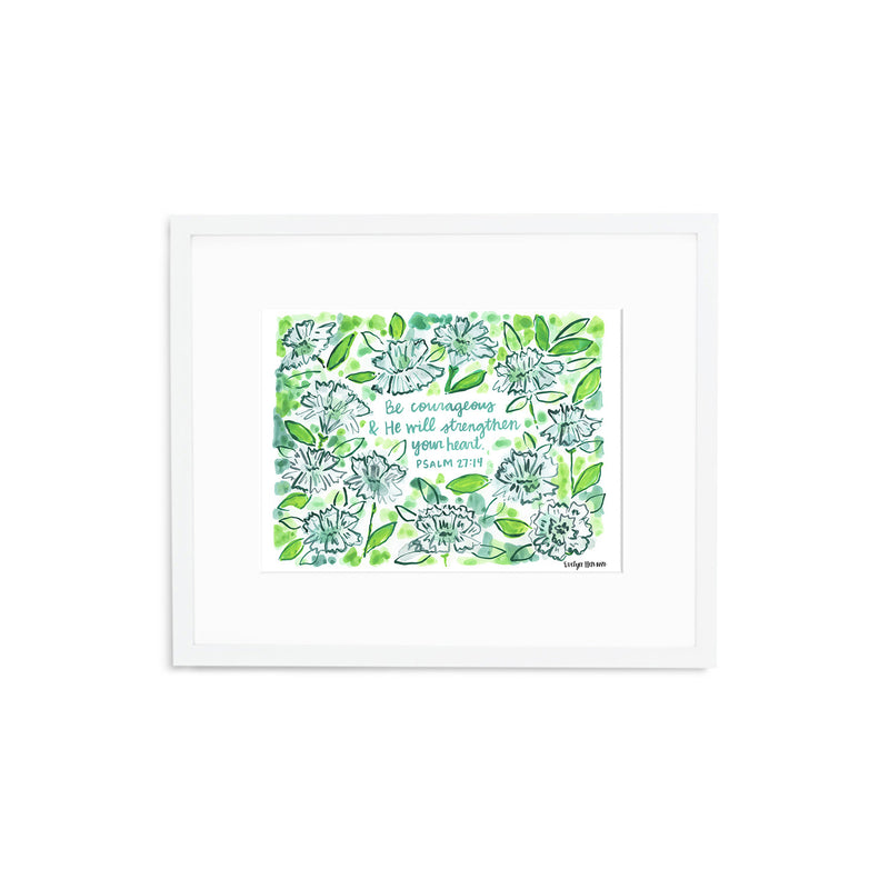 "The ""Psalm 27:14"" Fine Art Print"