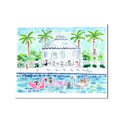 "The ""Pool Pawty"" Fine Art Print"