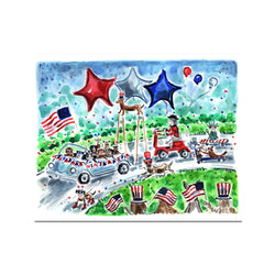 "The ""Ultimutt July 4th Parade"" Fine Art Print"