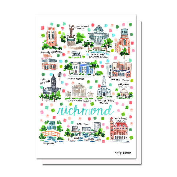 Richmond, VA Map Card
