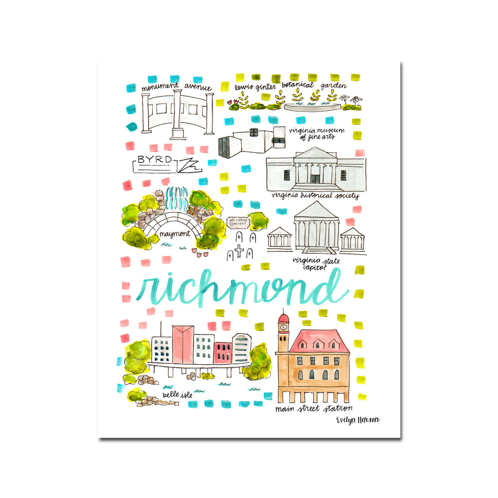 """Richmond, VA"" Fine Art Print"