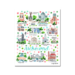 """Richmond VA"" Fine Art Print"