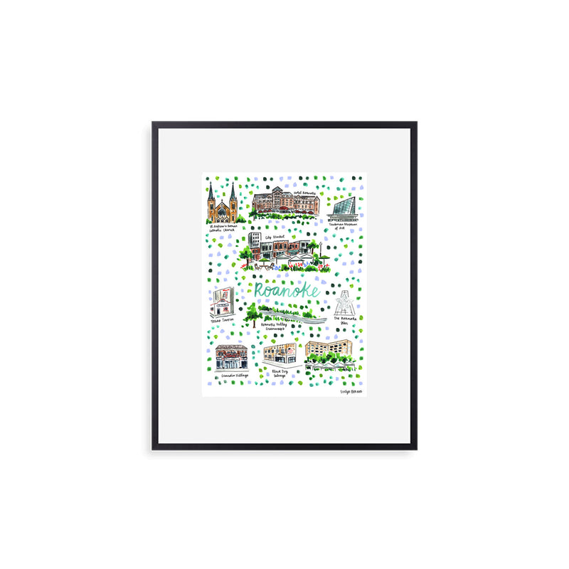 """Roanoke, VA"" Fine Art Print"