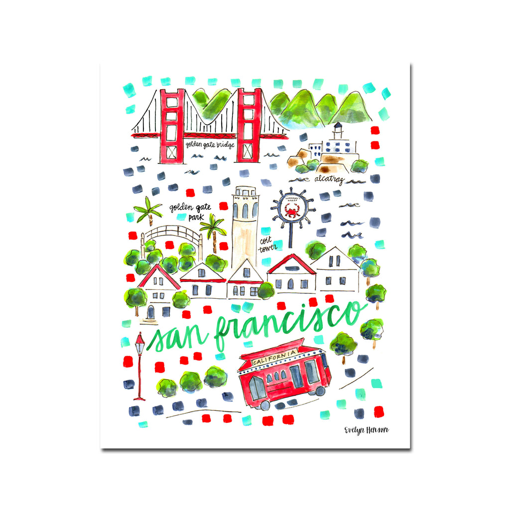 """San Francisco, CA"" Fine Art Print"